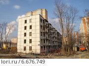 Купить «Москва, Щёлковское шоссе, выселенный дом», фото № 6676749, снято 18 ноября 2014 г. (c) Павел Москаленко / Фотобанк Лори