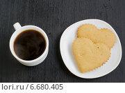Кофе и печенье. Стоковое фото, фотограф Елена Захарченко / Фотобанк Лори