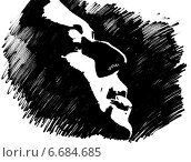 Профиль мужчины. Стоковая иллюстрация, иллюстратор Борисенко Анастасия / Фотобанк Лори