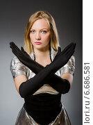 Купить «Tech woman in futuristic concept», фото № 6686581, снято 6 августа 2014 г. (c) Elnur / Фотобанк Лори