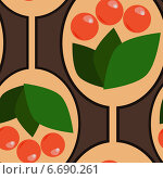 Фон с ягодами. Стоковая иллюстрация, иллюстратор Tatiana Makhakhei / Фотобанк Лори