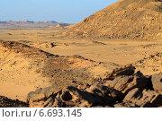Аравийская пустыня, пейзаж. Египет. Стоковое фото, фотограф Марина Зубрицкая / Фотобанк Лори