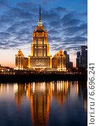 Купить «Ночная Москва», фото № 6696241, снято 22 ноября 2014 г. (c) Наталья Волкова / Фотобанк Лори
