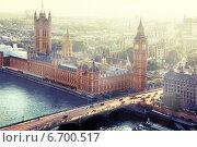 Купить «Вестминстерский дворец — здание на берегу Темзы в лондонском районе Вестминстер, где проходят заседания Британского парламента», фото № 6700517, снято 9 сентября 2014 г. (c) Iakov Kalinin / Фотобанк Лори
