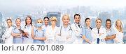 Купить «team or group of doctors and nurses», фото № 6701089, снято 18 мая 2013 г. (c) Syda Productions / Фотобанк Лори