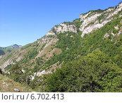 Красивые Кавказские горы ярким солнечным днем, фото № 6702413, снято 18 августа 2006 г. (c) Евгений Ткачёв / Фотобанк Лори