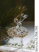 Стеклянная балерина - елочное украшение. Стоковое фото, фотограф Анна Губина / Фотобанк Лори