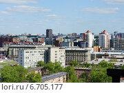 Новосибирск, вид с крыши (2014 год). Редакционное фото, фотограф Юлия Куксова / Фотобанк Лори