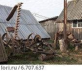 Старая косилка. Стоковое фото, фотограф Андрей Силивончик / Фотобанк Лори