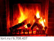 Купить «Огонь в камине», фото № 6708437, снято 15 мая 2014 г. (c) Наталья Волкова / Фотобанк Лори
