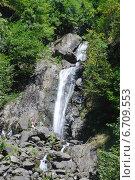 Купить «Абхазия. Молочный водопад рядом с озером Рица», фото № 6709553, снято 2 сентября 2014 г. (c) Рябков Александр / Фотобанк Лори
