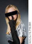 Купить «Tech woman in futuristic concept», фото № 6716081, снято 6 августа 2014 г. (c) Elnur / Фотобанк Лори