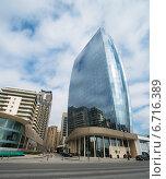 Купить «Baku - MARCH 1, 2014: Port Baku office building on March 1 in Azerbaijan, Baku. Port Baku is new development area in Baku», фото № 6716389, снято 1 марта 2014 г. (c) Elnur / Фотобанк Лори