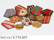 Орден и медали ветерана Великой Отечественной войны. Стоковое фото, фотограф Виталий Матонин / Фотобанк Лори