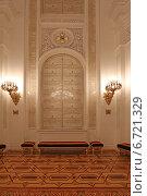 Купить «Георгиевский зал Большого Кремлевского дворца», эксклюзивное фото № 6721329, снято 26 ноября 2014 г. (c) Алексей Гусев / Фотобанк Лори