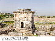 Купить «Памуккале, Турция. Античный склеп в некрополе Иераполиса, II в. до н.э.  - XV в. н. э», фото № 6721609, снято 27 июня 2014 г. (c) Rokhin Valery / Фотобанк Лори