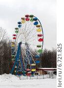 Купить «Колесо обозрения», фото № 6721825, снято 17 марта 2013 г. (c) Илья Ладнев / Фотобанк Лори
