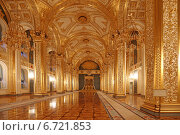 Купить «Андреевский зал Большого Кремлевского дворца, Москва», эксклюзивное фото № 6721853, снято 26 ноября 2014 г. (c) Алексей Гусев / Фотобанк Лори