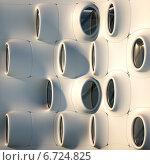 Фасад с иллюминаторами, иллюстрация № 6724825 (c) Юрий Бельмесов / Фотобанк Лори