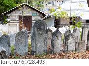 Купить «Могильные плиты на старом кладбище в Мале», фото № 6728493, снято 12 февраля 2013 г. (c) Сергей Дубров / Фотобанк Лори