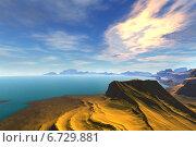 Купить «Чужая планета. Скалы и рассвет», иллюстрация № 6729881 (c) Parmenov Pavel / Фотобанк Лори