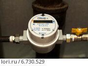 Купить «Газовый счетчик», эксклюзивное фото № 6730529, снято 29 ноября 2014 г. (c) Юлия Бабкина / Фотобанк Лори