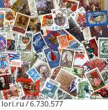 Фон из почтовых марок СССР разных лет. Стоковое фото, фотограф Иван Марчук / Фотобанк Лори