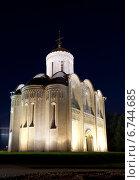 Купить «Дмитриевский собор во Владимире ночью», фото № 6744685, снято 21 августа 2013 г. (c) Наталья Волкова / Фотобанк Лори