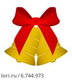 Купить «Колокольчики с красной лентой», иллюстрация № 6744973 (c) Мастепанов Павел / Фотобанк Лори