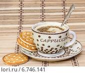 Чашка кофе и печенье. Стоковое фото, фотограф Любовь Назарова / Фотобанк Лори
