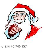 Купить «Санта Клаус указывающий на зрителя», эксклюзивная иллюстрация № 6746957 (c) Александр Павлов / Фотобанк Лори