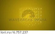 Купить «Grid moving on yellow background », видеоролик № 6757237, снято 20 июля 2019 г. (c) Wavebreak Media / Фотобанк Лори