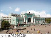 Новосибирский главный вокзал. Стоковое фото, фотограф Василий Васильев / Фотобанк Лори