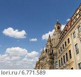 Купить «Фрауэнкирхе - лютеранская церковь в Дрездене, Германия», фото № 6771589, снято 15 июня 2013 г. (c) Владимир Журавлев / Фотобанк Лори