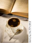 Купить «Черный кофе в белой чашке», фото № 6771913, снято 14 ноября 2014 г. (c) Регина Гизбрехт / Фотобанк Лори