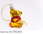 Елочная игрушка-медвежонок (2014 год). Редакционное фото, фотограф Роман Филатов / Фотобанк Лори