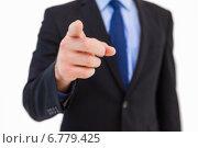 Купить «Businessman pointing his finger at camera», фото № 6779425, снято 11 июня 2014 г. (c) Wavebreak Media / Фотобанк Лори