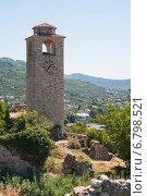 Башня с часами в Старом Баре, Черногория (2014 год). Стоковое фото, фотограф Евгений Макеев / Фотобанк Лори
