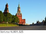 Спасская башня. Красная площадь. Москва (2014 год). Стоковое фото, фотограф Юлия Сагитова / Фотобанк Лори