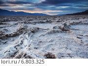Badwater Basin, соляная пустыня, закат (2014 год). Стоковое фото, фотограф Liseykina / Фотобанк Лори