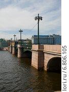 Купить «Сампсониевский мост. Река Невка. Санкт-Петербург», эксклюзивное фото № 6806105, снято 13 июля 2014 г. (c) Александр Щепин / Фотобанк Лори