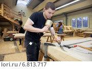 Купить «Berlin, Germany, artisan carpentry training at the Berlin Lehrbauhof», фото № 6813717, снято 6 декабря 2010 г. (c) Caro Photoagency / Фотобанк Лори