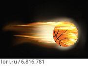 Огненный баскетбольный мяч. Стоковая иллюстрация, иллюстратор Yevgen Kachurin / Фотобанк Лори