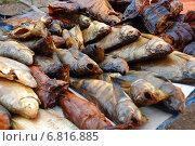 Купить «Копченая рыбка домашнего приготовления, пойманная на озере Селигер Тверской области», эксклюзивное фото № 6816885, снято 3 сентября 2011 г. (c) lana1501 / Фотобанк Лори