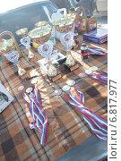 Медали и кубки награждения победителей (2012 год). Редакционное фото, фотограф Рафаэль Тутунчиев / Фотобанк Лори