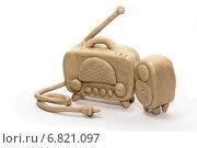 Купить «Пластилиновый радиоприёмник», фото № 6821097, снято 20 декабря 2014 г. (c) Юлия Ладанова / Фотобанк Лори