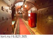 """Купить «""""Бункер-42"""" - бывший советский секретный военный объект. Коридор в бункере», фото № 6821305, снято 29 ноября 2014 г. (c) Володина Ольга / Фотобанк Лори"""