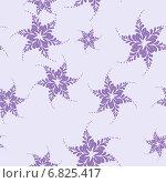 Купить «Бесшовный фон - фиолетовые снежинки», иллюстрация № 6825417 (c) Марина / Фотобанк Лори