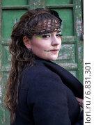 Купить «Девушка с макияжем для Хеллоуина», фото № 6831301, снято 30 октября 2013 г. (c) Наталья Степченкова / Фотобанк Лори