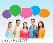 Купить «group of smiling teenagers showing ok sign», фото № 6832781, снято 22 июня 2014 г. (c) Syda Productions / Фотобанк Лори